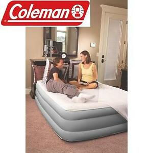 NEW COLEMAN QUEEN AIRBED MATTRESS WITH BUILT IN ELECTRIC PUMP - 18'' DOUBLE HIGH 103702553
