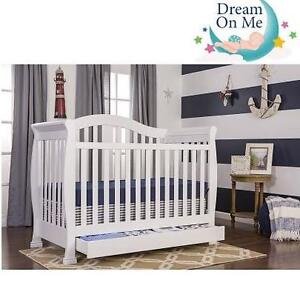 NEW DOM 5-IN-1 CONVERTIBLE CRIB ADDISON - WHITE - WITH STORAGE 102853514