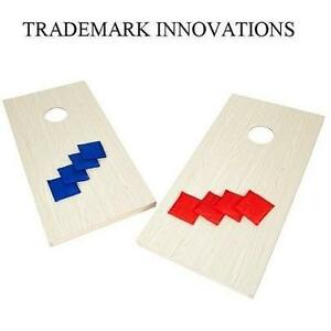 NEW TI 4' BEAN BAG TOSS SET TRADEMARK INNOVATIONS - PREMIUM ALL WOOD CORNHOLE SET - INCLUDES 8 BAGS 104553505