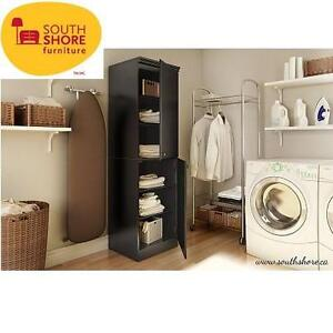 NEW* SOUTH SHORE STORAGE CABINET PURE BLACK - MORGAN COLLECTION 102417291
