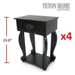4 NEW TETON HOME TABLE TOP TABLES - 107839956 - 10 x 6.8 x 13.8 inches