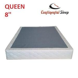 NEW CS QUEEN 8'' BOX SPRING CONTINENTAL SLEEP FULLY ASSEMBLED 104619903