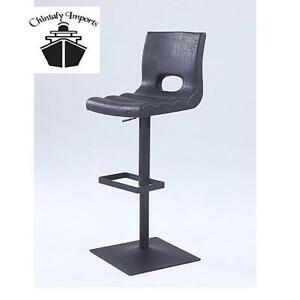 NEW CI PNEUMATIC BLACK BAR STOOL - 107848289 - CHINTALY IMPORTS CUT BACK STOOL WITH POWDER COATING