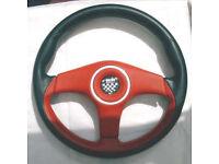 Steering Wheel, Barchetta, leather.