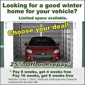 Secure Winter Car, Truck and Motorcycle Storage