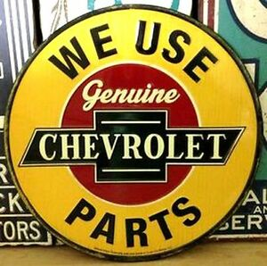 Chevrolet- Tin Wall Sign