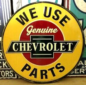 Chevrolet- Tin Wall Sign Sarnia Sarnia Area image 1