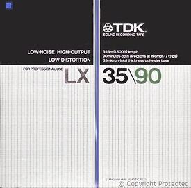 TDK LX 35/90 7 INCH REEL TAPE
