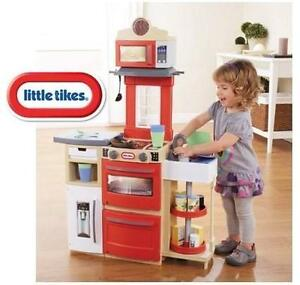 NEW LITTLE TIKES KITCHEN PLAYSET - 110182525 - Cook n Store Kitchen - Red