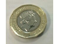 12 sided Wrongly dated pound coin (x1) - New uncirculated