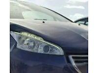 X2 PEUGEOT 208 DRL HEADLIGHT LED FACELIFT GENUINE RRP £220 EACH