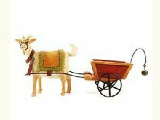 Blossom Bucket Billy Goat Pulling Cart Wagon Primitive Folksy Decor 82448 Padden