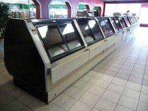 Refrigerated, lighted, deli cases