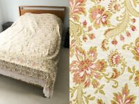 sleepmaster vintage embroidered double bed throw