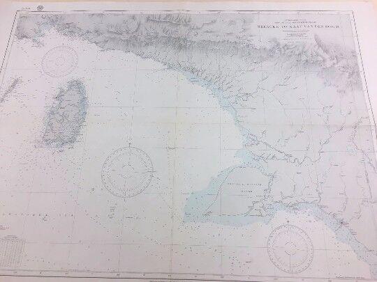 Vintage Hydrographic Map of Merauke to Kaap Van Den Bosch, New Guinea