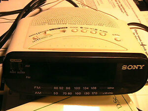 SONY alarm radio, 110V or battery operated AM and FM.
