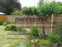 M&K MAINTENANCE FENCING SPECIALIST