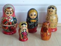 OLD RUSSIAN STACKABLE DOLLS