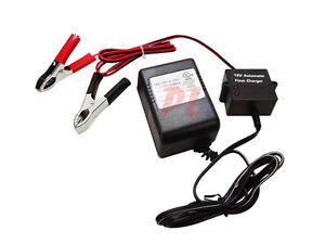 12V Automatic Battery Float Charger Indicator Trickle Charger Car Boat Battery