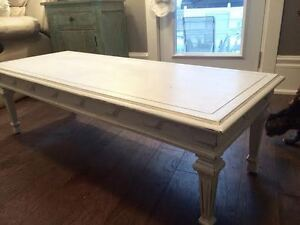 Beautiful Solid Wood Chalk Painted Coffee Table