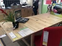 IKEA NORDEN SOLID EXTENDING DINING/ KITCHEN/ CRAFTING REFECTORY STYLE TABLE DESK