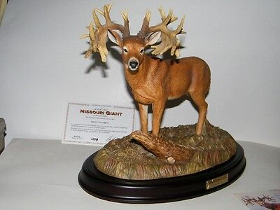 "Danbury Mint ""Trophy Bucks"" (Missouri Giant Sculpture) by Ron Van Gilder"