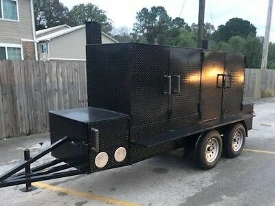 Big Butt 2 Pro Bbq Smoker Grill Trailer Food Truck Concession Street Cart Vendor