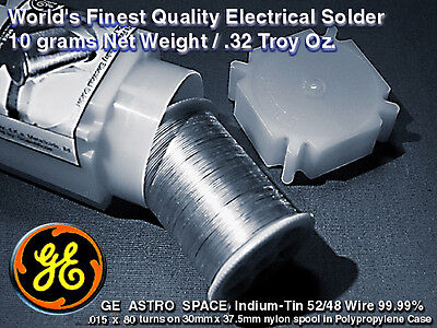 Aerospace Grade 99.99 Indium-tin Wire 5248 M.p.231f .015x80turns10gm.32t.o.
