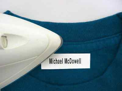 Personalized Clothing Labels (100 Personalized Pre-Cut Iron On Clothing Name Labels / Tags / Tapes )
