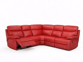 RED CORNER SOFA 4 PIECES