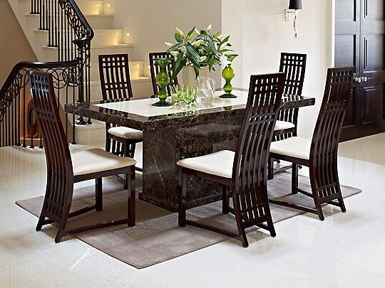 Solid Marble Table And 6 Chairs Harveys