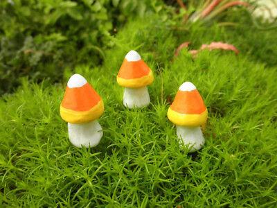 Fairy Garden Fall Candy Corn Miniature Mushrooms Halloween Decorations