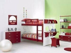 Rondo Single Bed Bunk + 2 x Simplee Kidz mattresses Black Rock Bayside Area Preview