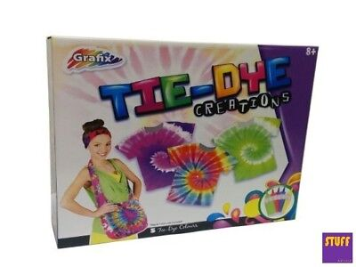 Tie Dye Kit Create Your Own style Design Childrens Kids Craft Science Learning