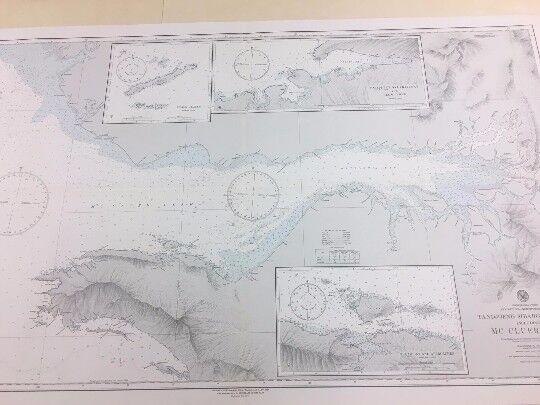 Vintage Hydrographic Map, Nautical Chart - Tandjoeng Sibaboe to Semai New Guinea