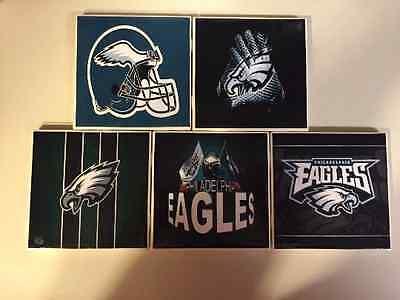 - Philadelphia Eagles Ceramic Tile Coasters (Set of 5)