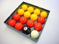 Aramith Red and Yellow 2 inch Pool Balls Brand New