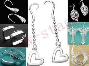 FREE-P-P-WHOLESALE-PRICE-FREE-SHIPPING-NEW-HOT-MANY-POPULER-SILVER-EARRINGS