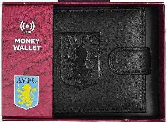 Aston Villa FC Rfid Echtleder Fußball Sport Geldbeutel Geldbörse Avfc Geschenk