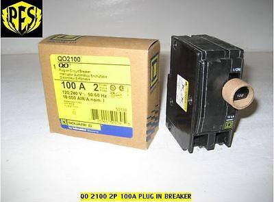 New Square D Qo2100 100 Amp Two Pole Qo Circuit Breaker 120240v