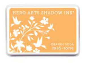 Hero Arts Shadow Ink Stamp Mid-tone Tide Pool Orange Soda Red Royal