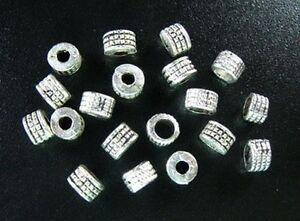 150pcs-Tibetan-Silver-Ornate-Tiny-Tube-Spacer-Bead-T398
