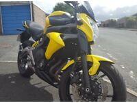 2013 Kawasaki er6n 650cc Yellow/Black