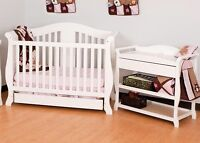 Stork Craft Aspen 3-in-1 Convertible Crib & change table