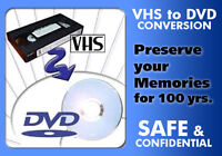 Transfer your old videotapes to DVD