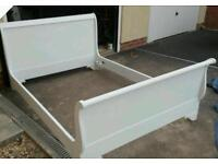 Double bed frame sleigh bed