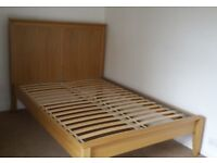 IKEA Herefoss king size bed frame and mattress