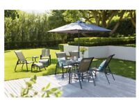 BRAND NEW - Andorra Metal 11 piece 6 Seater Garden Furniture Set with Tea for Two RRP £400.00
