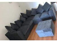 Brand New Dylan Premium Chenille Fabric 3+2 / Corner Sofa / Swivel Chair / Footstool