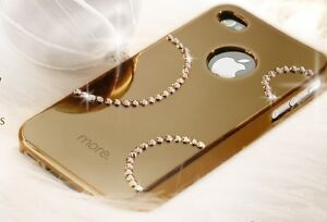 iphone-5-5s-gold-bling-cover-case-with-Swarovski-Crystal-Protector-included